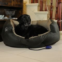 Hot Dog Harewood Heated Dog Bed