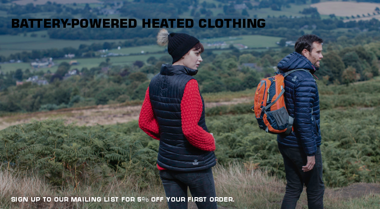 Heated Clothing - 5% off first order when you sign up for our mailing list