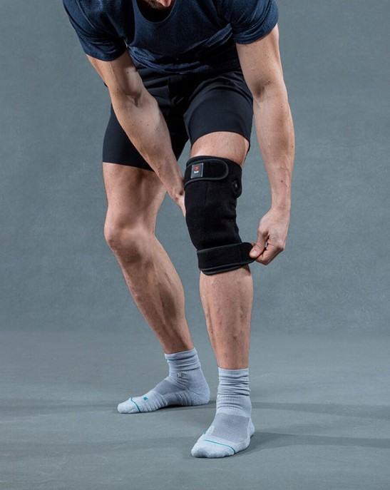 Man wearing Blaze Wear Heat Therapy Knee Wrap